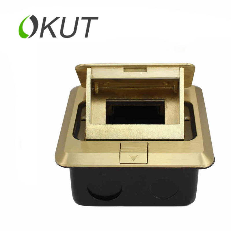 OKUT  GT101 Multifunction ground socket to plug the power of multimedia to insert an empty box with 128 series modules<br>