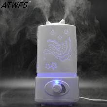 ATWFS Ultrasonic Air Humidifier Fogger LED Oil Aroma Diffuser Mist Maker Aromatherapy Diffuser Air Cleaner Nebulizer Vaporizer(China)