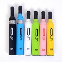 50pcs/lot High Quality Designer Personalized Clear Rain Umbrellas! creative wine bottle Umbrella 41 color Free shipping