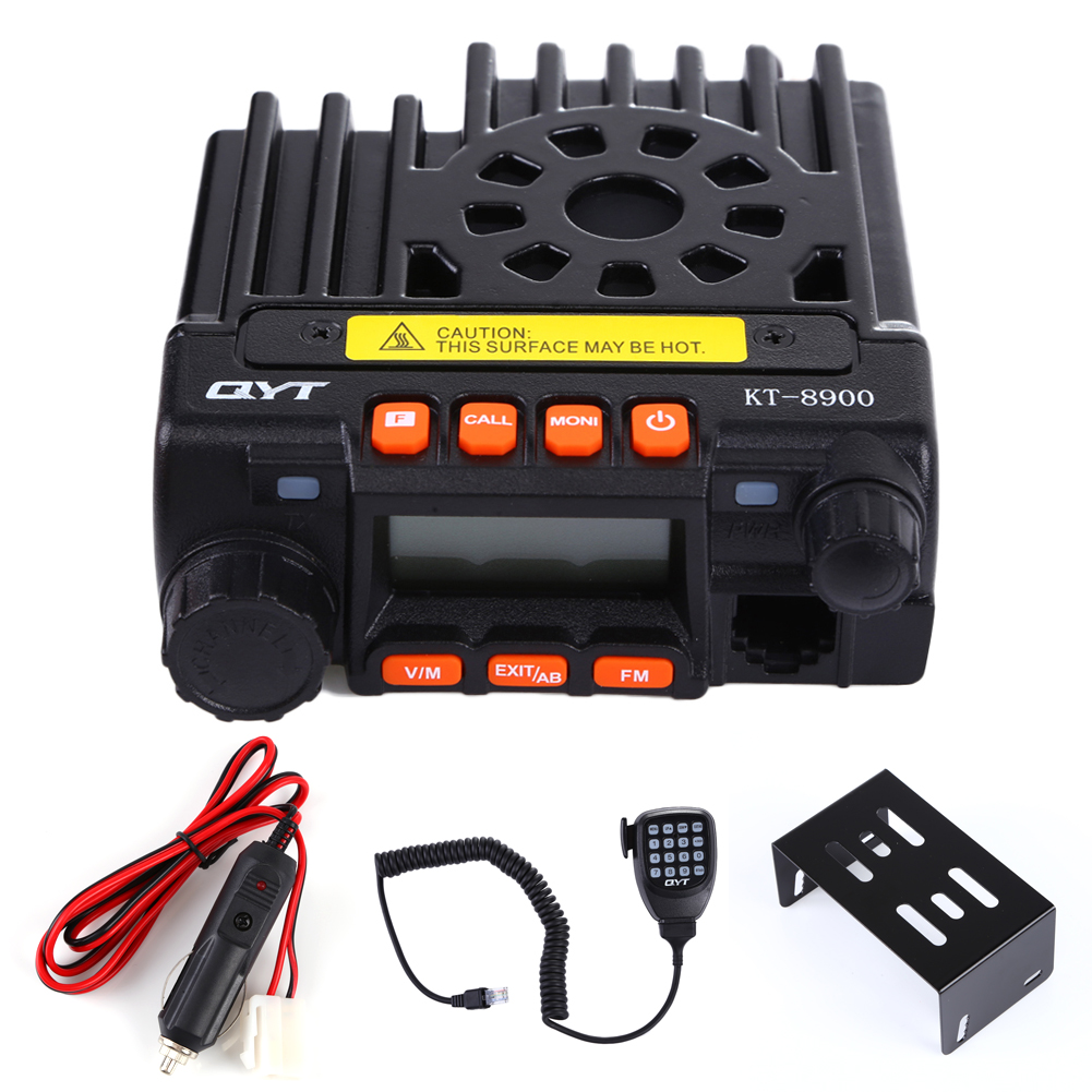 New Mini Car Radio QYT KT-8900 Mobile Radio Dual Band 136-174/400-480MHz Transceiver KT8900 Black Walkie Talkie For Car Bus Army<br><br>Aliexpress
