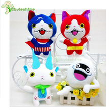 Skyleshine 4Pcs/Lot Yokai Watch Monster Plush Toys Japan Stuffed Doll Anime Fat Cat Animal Doll For Kids Toys#ML0209(China)