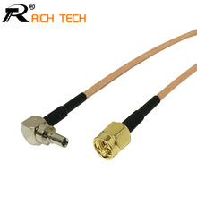 Custom Coaxial RF Cable 3G modem wholesale RG316 pigtail Cable SMA Switch CRC9 Right Angle adapter Male to Male connector