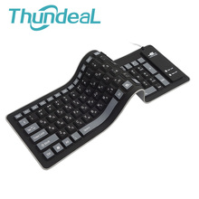 Newest 103key Russian Version keyboard Wire USB Interface Silicon Teclado USB Keyboards for PC Desktop Laptop OTG Android Phone