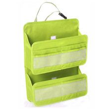 New Car Seat Storage Bag Multi Pocket Sundry Tidy Bag Hanging Storage Organizer Green Oxford Pouch