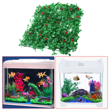2Pcs Artificial Green Grass Plant Lawn Aquarium Fish Tank Landscape Garden Fish Pet Products for Aquarium / Fish Tank / Garden(China)
