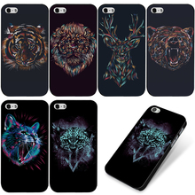 For Apple iPhone 4S Case Lion Tiger Leopard Cat Hard Case Cover For iPHONE 4 Free Screen Protector