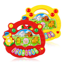 Musical Instruments Education Toys Popular Animal Sound Keyboard Trumpet Baby Musical Toy Toys For Children SL003(China)
