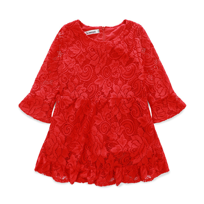 Lace Girls Dress Winter 2017 Girl Children Clothing Brand Clothes Kids Dress For Princess Holiday Party Wedding Toddler Autumn<br><br>Aliexpress