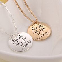 2016 Hot Cool flamboyant couple friends girlfriends necklace Learn From Yesterday, Live For Today, Hope For Tomorrow necklace