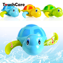 Newborn Cute Cartoon Animal Tortoise Baby Bath Toy Infant Swim Turtle Chain Clockwork Classic Toys Kid Educational Toys(China)