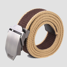 Hot brand men canvas outdoor belt military equipment cinturon western strap men's belts luxury for men jeans belt(China)