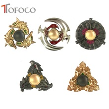TOFOCO King Glory Metal Anime Hand Spinner Fidget Spinner Stress Cube Torqbar Brass Focus KeepToy and ADHD EDC Anti Stress