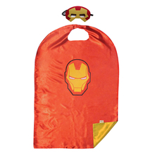 1set Iron Man Mask 110*70 CM Cape Super Hero Marvel Comics Cloak Cosplay Party Game Supplies Kids Birthday Children's Day Gift(China)