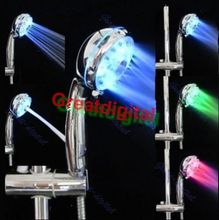 A96 Super Bright Automatic 7 Colors LED Shower Head Home Bath Water Glow Light LD8008-A21#XY#