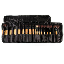 On Sale Professional Synthetic Hair 32pcs/set Pinceis De Maquiagem Blush Brush Kit Of Cosmetic Brushes With Black PU Bag(China)