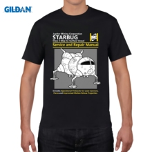 GILDAN Short Sleeve Thanksgiving Day Custom Red Dwarf Starbug Service And Repair Manual Tee Shirts(China)