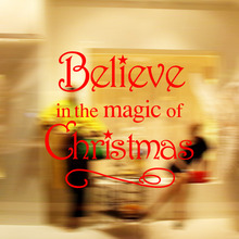 M-23 Magic Will Happen Inspiration Quote Wall Sticker decal Home decor Wallpaper Wall Mural  Believe In The Magic Of Christmas