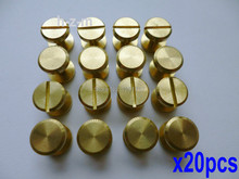 20pcs 10x6mm Leather Craft Belt Wallet Solid Brass Nail Rivets Chicago Screws