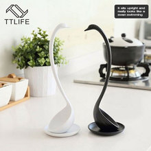 TTLIFE Creative Lovely Swan Soup Spoon Long Handle Porridge Monster Spoons with Tray Kitchen Cooking Tools Kitchen Accessories