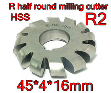 R2  45*4*16mm Inner hole HSS Convex Milling Cutters R half round milling cutter Free shipping