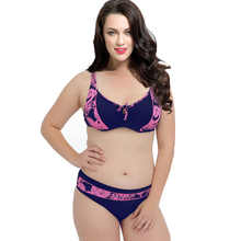 PNT039 Discount Sexy Bikini Set Floral Print Underwire Push Hp Cup Swimwear Plus Size Hot Quality Women's Swimsuit Girl Biquini(China)