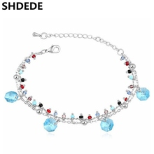 Female Gift Boutique Bracelets Crystal from Swarovski Charm Bracelet Jewelry For Women New Trendy Jewellery 16648