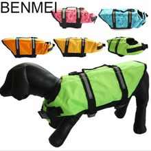 BENMEI New Style Pet Dog Accessories Pet Swimsuit For Dogs Swim Life Jackets Dog Swimwear Vest For Dog Safe To Swim XS-XL(China)