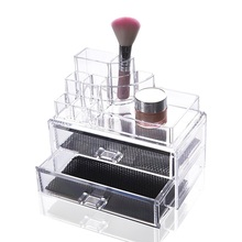 Acrylic Cosmetic Makeup Organizer Lipstick Holder Jewelry Storage Box Case Storage Drawers Display Transparent Glossy Rectangle