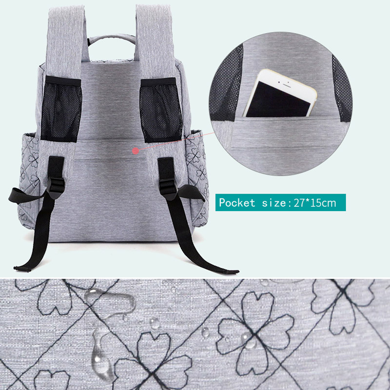 Diaper Bag Fashion Mummy Maternity Nappy Bag Brand Baby Travel Backpack Diaper Organizer Nursing Bag For Baby Stroller Wetbag (2)