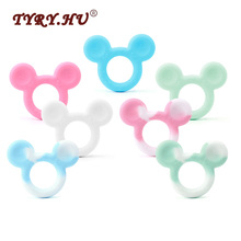 Buy TYRY.HU Baby Silicone Teether 1pc Charms Mickey Shaped Baby Teething Toys BPA Food Grade Teethers DIY Supplies Jewelry Making for $2.63 in AliExpress store