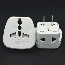 White 10A 250V CE certified connector with security door AU UK EU to US travel plug adaptor for Japan Taiwan