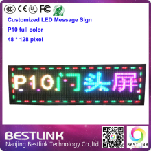 p10 outdoor full color led display module for rgb door sign 48*128 Pixel led message sign board outdoor led screen billboard