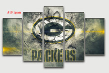 AtFipan Canvas Paintings For Living Room Green Bay Packers Oil Painting Famous Home Wall Art Design Unframed Modular Wall Poster(China)