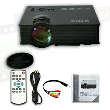Office and home use led lcd full HD 1080P 3D projector beamer UC40/UC40+ with HDMI/VGA/SD/USB/AV kids toys holiday present gifts