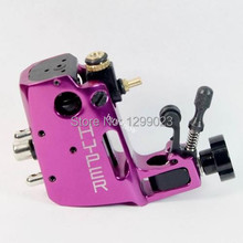 NHigh quality Professional Swiss Motor Stigma Bizarre Rotary Tattoo Machine rose red Liner& Shader Top Free shipping(China)