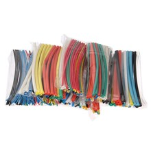 New 315PCS 6Sizes Assorted Multi Colors Polyolefin 2:1 Flame Retardant Durable Ratio 2:1 Polyolefin Heat Shrink Tubing Tube Kit