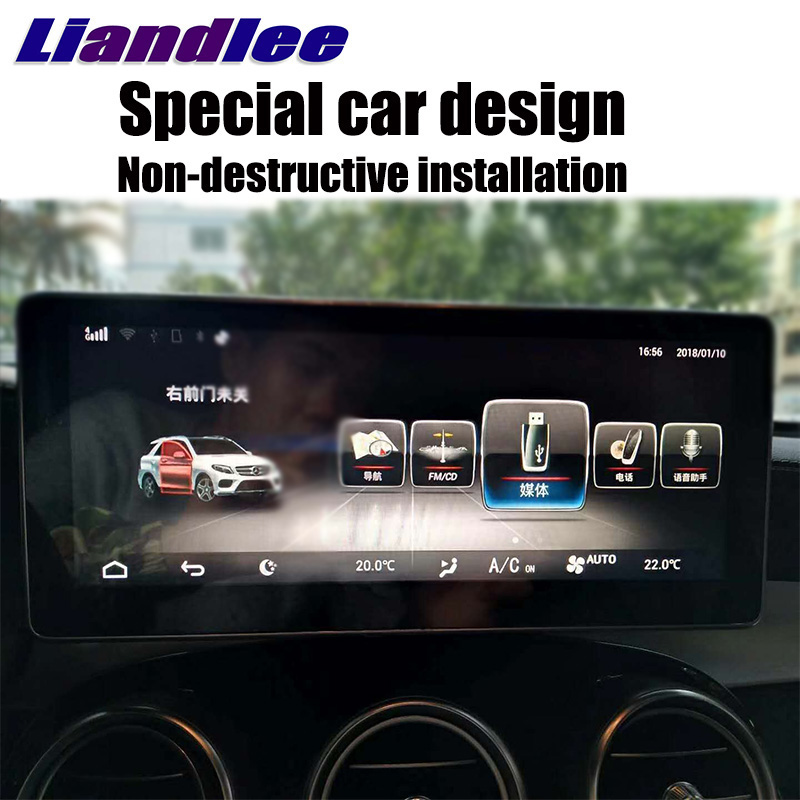 Liandlee Car Multimedia Player NAVI For Mercedes-Benz MB GLC Class X253 C253 2015~2018 Car Radio Stereo GPS Navigation 3
