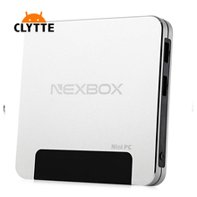 5Pcs NEXBOX T9 Mini PC Smart TV Box Win 10 1.84GHz 4-core 2.4GHz WiFi 4GB 64GB BT 4.0 100M LAN HDMI Intel Online Pocket Player