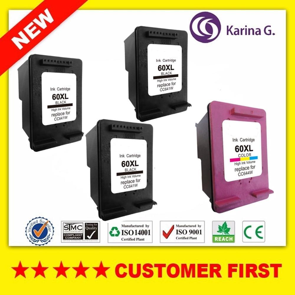 4X 3B+C Ink Cartridges for HP 60 XL 60XL hp60 Photosmart C4685 C4688 C4798 C4799 D110a ENVY 100 110 111 114 120 121 e-All-in-One<br><br>Aliexpress