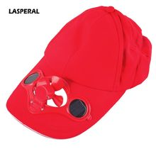 LASPERAL New Summer Adjustable Sunshade Caps Novelty Sun Solar Power Cool Fan For Cycling Hat Golf Baseball Running Caps