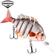 1pcs New design 6 Sections Fishing lure 10cm-13.67g Swim Bait 2/0 Hook fishing tackle 6 color Fishing bait HS012