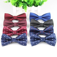 Fashion Bowties Groom Mens Plaid Painted Cravat For Men Dot Butterfly Gravata Designer Male Star Marriage Wedding Bow Ties(China)
