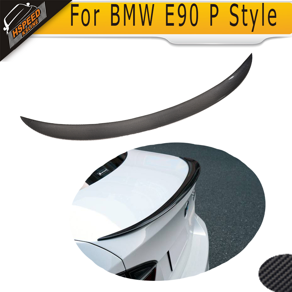 2005-2012 Carbon fiber Rear Spoiler for BMW E90 P Style<br><br>Aliexpress