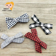 1pcs Lovely Solid Handmade Non-woven Bow Headbands With Soft Elastic Nylon Hair Band Girl Children Boutique Hairpin(China)