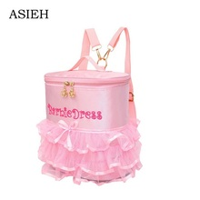 Little girl Lace backpack embroidery school bag child pink backpack ladies backpack Brand lovely school bag mochila mochilas(China)