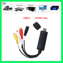 USB 2.0 Video Capture Card TV Tuner VCR DVD AV Audio Converter Connector for PC/Laptop HD Android VDG001(China)