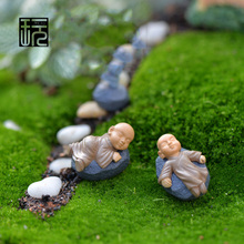 Multi-styles Buddhist Monk Terrarium Figurines Fairy Garden Miniatures Action Figure Toys Home Decoration Mini Doll Ornaments