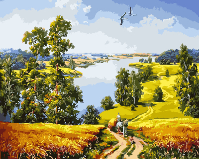 Landscape DIY Painting By Numbers Wall Art DIY Digital Canvas Oil Painting Home Decoration For Living Room GX9578 40*50cm(China (Mainland))