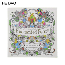 Enchanted Forest Book Coloring Books for Adults Kids Children Painting Antistress 24 pages Secret Garden Quiet Drawing 18.5*18.5