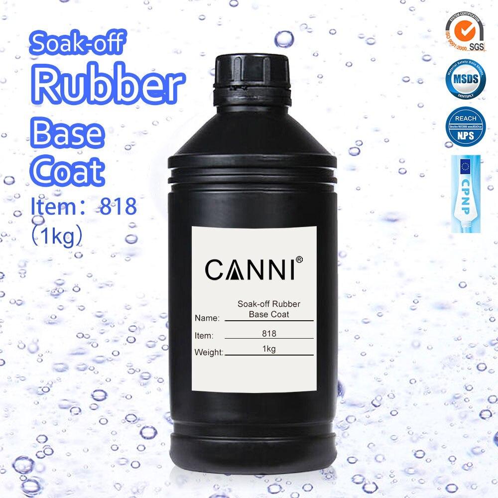 818 CANNI Rubber Base Coat 1000g Nail Art Salon Manicure Super Quality UV LED Paint Gel Polish Primer Foundation Base UV Gel 1kg<br>